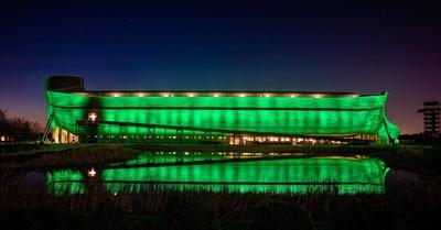 Ark Encounter Is Illuminated by Green Lights to Honor Kentucky Coronavirus Victims