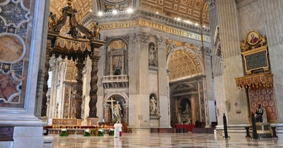 St. Peter's Basilica, guidelines for celebrating mass during a pandemic