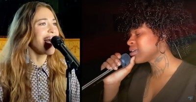 Just Sam and Lauren Daigle on American Idol, American Idol winner prayed with the judges during her audition