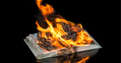 A burning book, Bibles are burnt in Oregon