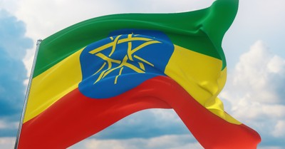 The Ethiopian flag, hundreds of Christians are killed in coordinated attacks in Ethiopia