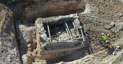 An ancient ritual bath, Archeologists unearth an ancient ritual bath