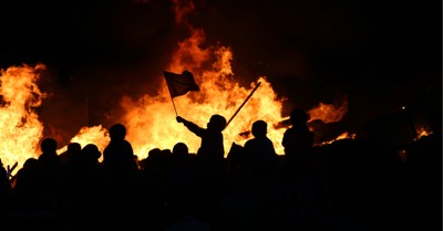 a violent riot, more Americans believe political violence is justified
