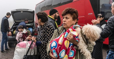 Displaced people arriving in Armenia, Samaritan's Purse delivers 11 tons of supplies to displaced people in Armenia