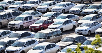 A parking lot full of cars, Canadian church fined almost $5000 for having a drive in church service