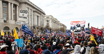 A prayer rally in DC, A prayer rally in DC turns violent