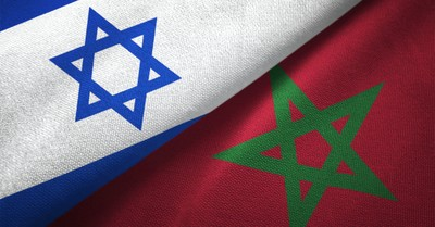 Israeli and Moroccan flags, Morocco becomes the fourth country to normalize relations of Israel in recent months