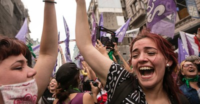 Pro-abortion advocates cheering in the streets of Argentina, Pro-lifers respond to celebrations over the passage in Argentina's lower house of a pro-abortion bill