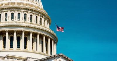 U.S. capitol building American flag