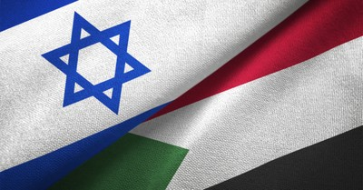 Sudan and Israel flags, Sudan signs peace agreement with Israel