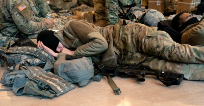 National Guard Troops, finding transcendent hope on hard days