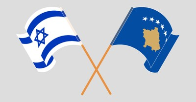 The Israel and Kosovo flags, Israel and Kosovo officially recognize each other