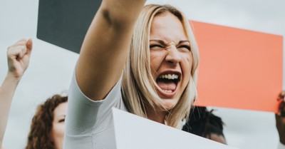 A woman shouting, when did our activism become so mean?
