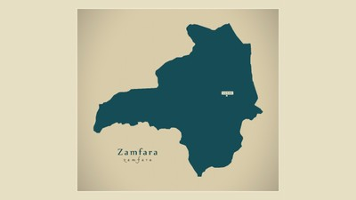A map of Zamfara, more than 270 of the 316 kidnapped Nigeria girls have been recovered