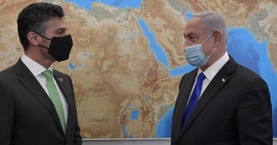 Ambassador Al Khaja and PM Benjamin Netanyahu, UAE's first ambassador to Israel arrives in Jerusalem