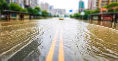 A flooded street, The Billy Graham Rapid Response Team heads to Kentucky to provide aid