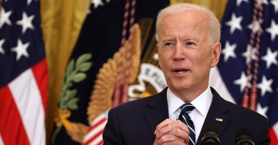 Joe Biden, Biden holds his first news conference