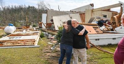 Home destroyed by tornado, 8 tornados rip through Alabama killing 5
