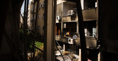 The town of Petach Tikva in Israel, Israel and Hamas agree to cease-fire