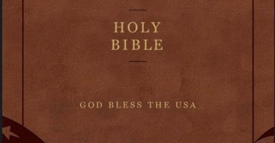 God Bless the USA Bible cover, King James saves the God Bless the USA Bible