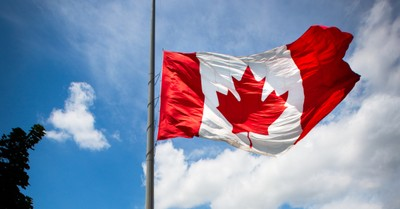 Canadian flag at half mast, Around 215 remains of children were discovered in a mass grave in Canada