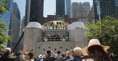 People gathered at the St. Nicholas National Shrine, Group raises $95 million to rebuild St. Nicholas Church
