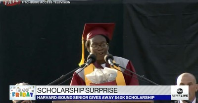 Verda Tetteh, Tetteh gives away $40,000 scholarship so students with more need can get it