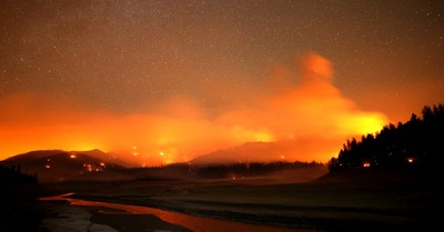 The Salt Fire, more than 50 large fires burn through the US West
