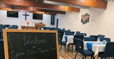 Open Door Baptist Church, A strip club is turned into a church