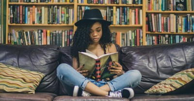 A woman reading, One possible remedy for our cultural anger