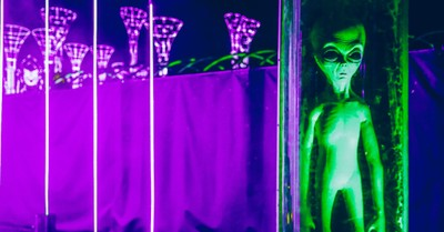 An alien, Religious people and atheists differ on belief in aliens