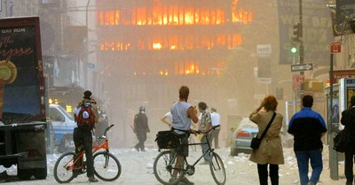 The World Trade Center on fire, How God restored my soul after I survived 9/11