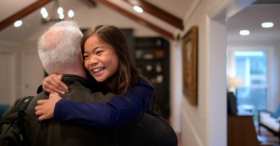 Mia Kendrick hugging her Dad, Show Me the Father can in the top ten in the box office