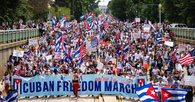 Americans protesting for Cuban freedom, Pastor arresting in Cuban for protesting the communist regime