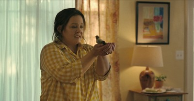 Melissa McCarthy holding a bird in The Starling, The Starling promotes hope to the grieving