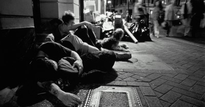 two homeless youths, youth homelessness has increased by 40 percent over the last 5 years