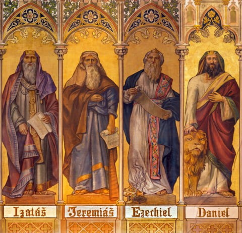 Four Great Prophets, St. Nicholas Church, Trnava, Slovakia.