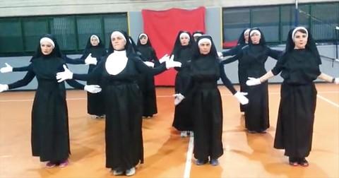 12+Nuns+Perform+Zumba+Dance+To+I+Will+Follow+Him