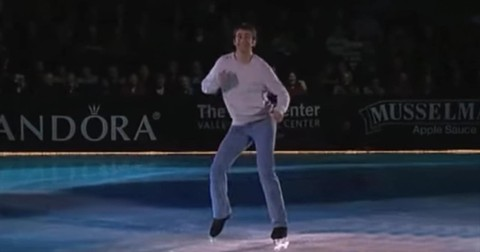 Ice+Skater+Performs+To+Classic+Song+%27Footloose%27
