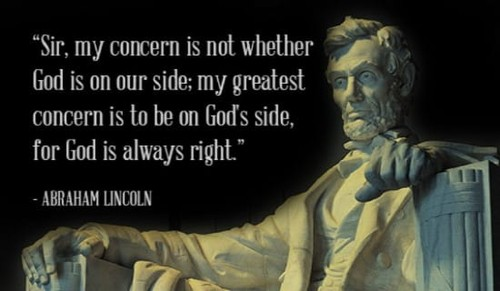 My Greatest Concern is to be on God's Side