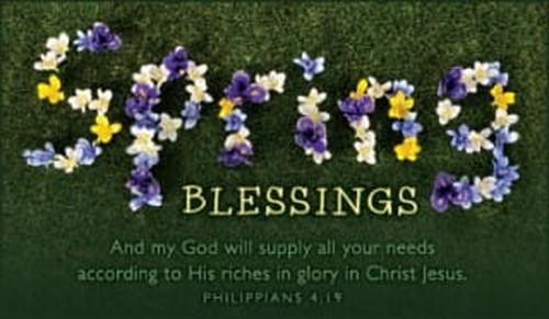Spring Blessings ecard, online card
