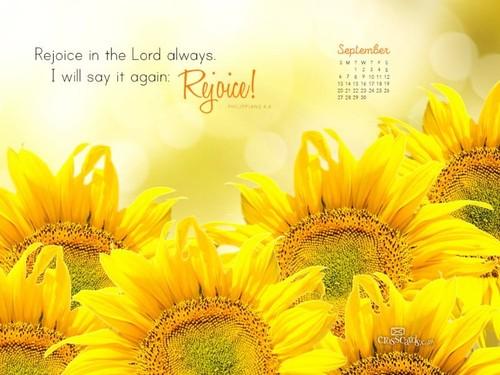 September 2015 - Philippians 4:4