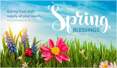 Spring Blessings - Philippians 4:19