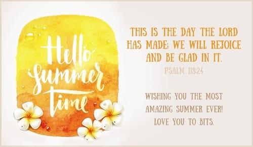 Hello Summer Time ecard, online card