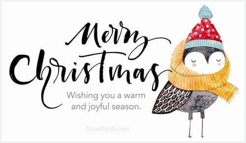 Wishing you a warm and joyful season. ecard, online card