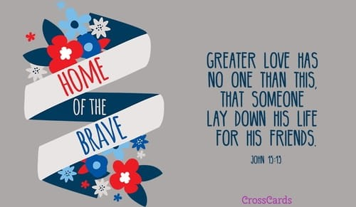Home of the Brave ecard, online card