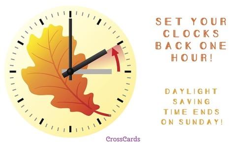 Set Your Clocks Back