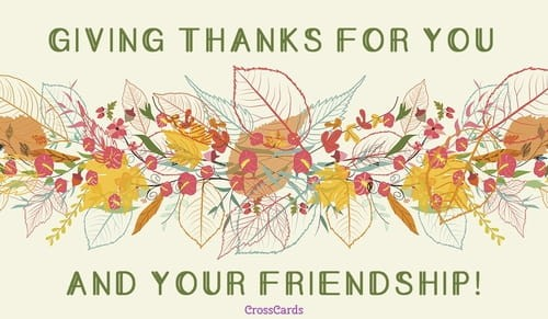 Giving Thanks for You ecard, online card
