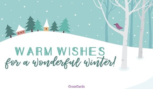 Warm Wishes ecard, online card