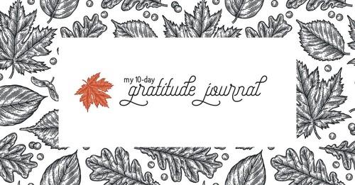 My 10-Day Gratitude Journal
